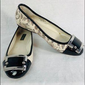 WHBM Blossom Ballerina Flats Snake Print 7.5